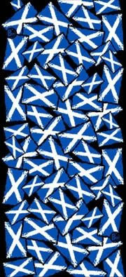 Buff Saltire - Click Image to Close